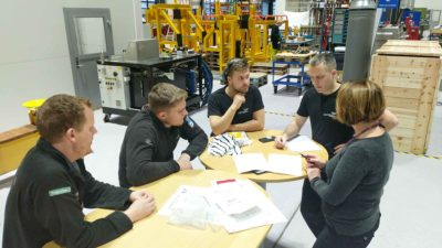 Project meeting in the workshop
