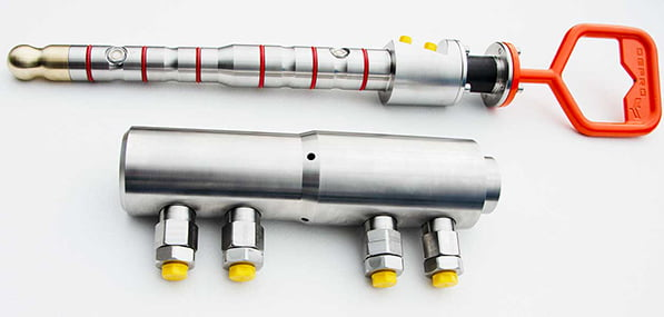 Type B ROV Hot-Stabs and Receptacles on a white background.
