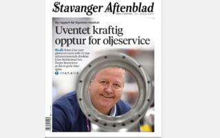 Facsimile of an article about Depro AS in the lokal newspaper Stavanger Aftenblad..