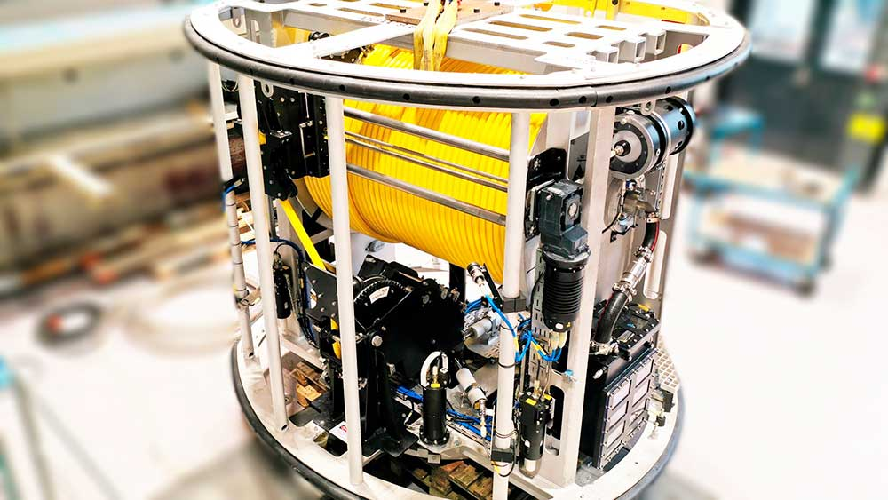 Image of a 3th generation of a fully electrical subsea TMS.