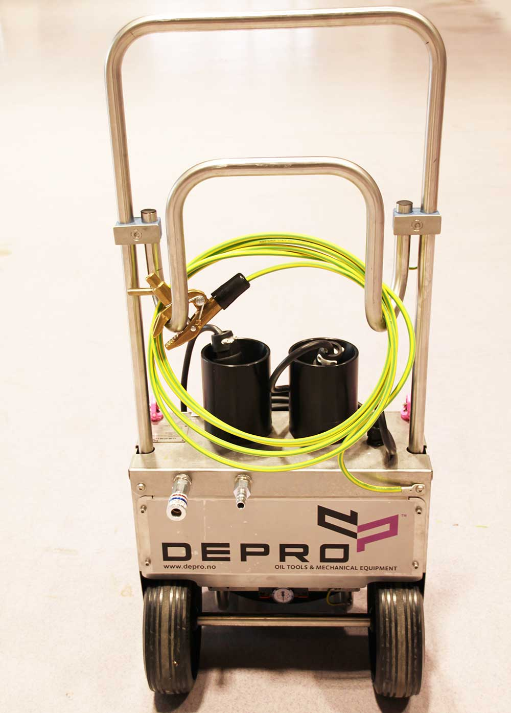 Image of a pneumatic shut down unit from Depro AS.