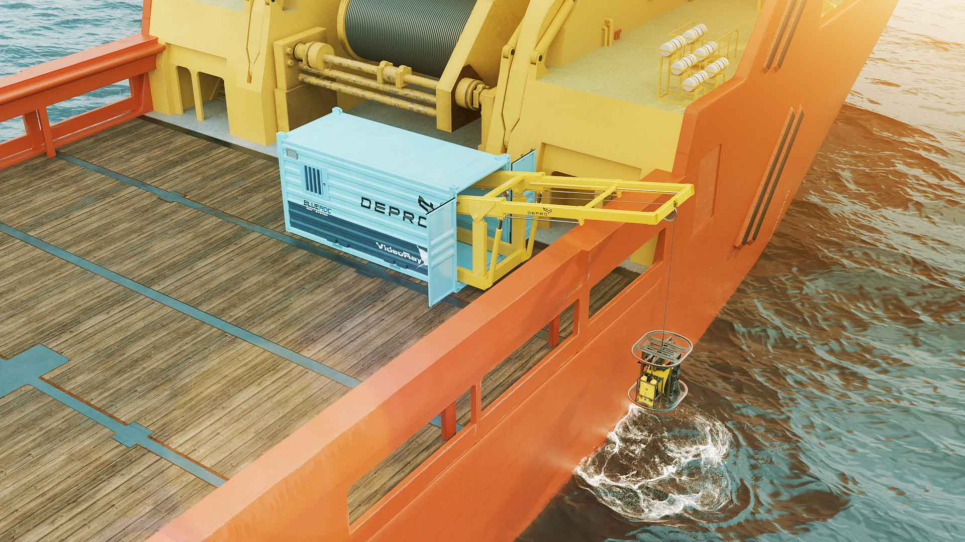 Picture from an animation of the new and cost efficient ROV-concept.