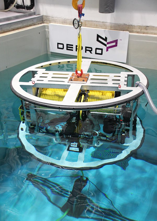 Third generation ETMS that is immersed in Depro's test pool.
