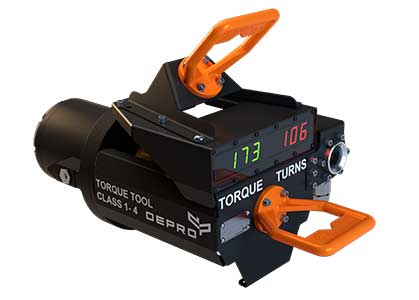 Image of Torque tool class 1-4 from Depro AS designed for use subsea, and remote operated through ROV.