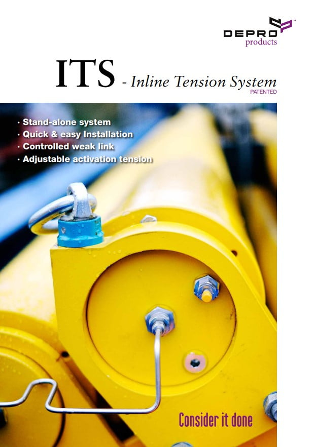 Picture of the front page of the brochure about ITS Inline System.